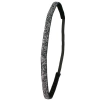 Ivybands Schwarz Special Glitzer Super Thin Haarband