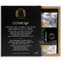 COSMOlift Kollagen Anti-Augenring Patches Biokomplex Gold 24 Karat 5 x 2 Stück