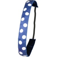 Ivybands Dark Blue White Dots Haarband