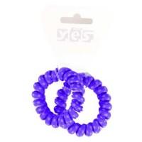 Solida Zopfabbinder Telefonkabel Textil, violett, 2 Stück