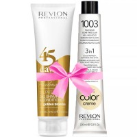 Revlon Revlonissimo 45 Days golden Blondes 275 ml + Revlon Nutri Color Hellgold 1003 100 ml