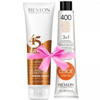 Revlon Revlonissimo 45 Days Intens Coppers 275 ml + Revlon Nutri Color Mandarine 400 100 ml