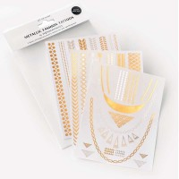 Wonderstripes Metallic Fashion Tattoos - Classic
