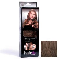 Hairdo Haarteil Clip in Wavy Extension R10 Chesnut 55 cm