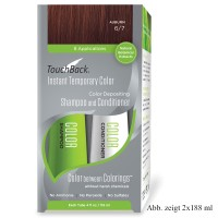 TouchBack Shampoo & Conditioner Einmal-Set  Auburn Rotbraun Sachet 15 x 19 ml
