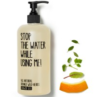 Stop the water while using me! All natural Orange Wild Herbs Body Lotion 200 ml