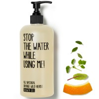 Stop the water while using me! All natural Orange Wild Herbs Shower Gel 5 l