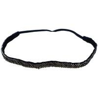 Comair Haarband Fischgräte silber