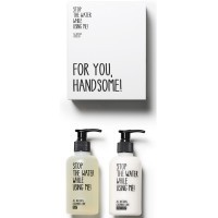 Stop the water while using me! All natural Cucumber Lime Hand Kit