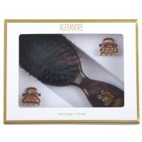 Alexandre de Paris Size Brown Full Strass in Geschenkebox