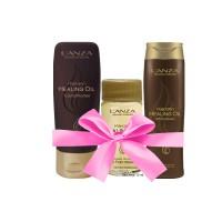 Lanza Geschenkset Healing Keratin Oil mit Kosmetiktasche