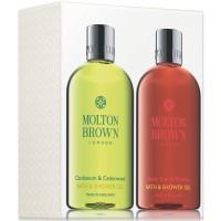 Molton Brown Cardamom & Cedarwood + Flame Tree & Pimento Bath & Showergel 2 x 300 ml