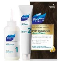 Phyto Phytocolor Sensitive 4 Chestnut  Kit
