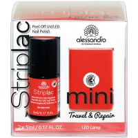 alessandro International Striplac 130 First Kiss Red Mini Set Travel & Repair