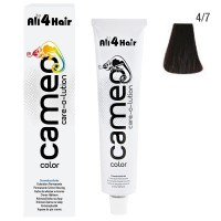 LOVE FOR HAIR Professional cameo color care-o-lution 4/7 mittelbraun braun 60 ml