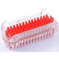 Solida Doppelseitige Kunststoffnagelbürste rot