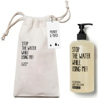 Stop the water while using me! All Natural Cosmetics White Sage Shower Gel 500 ml with Bag