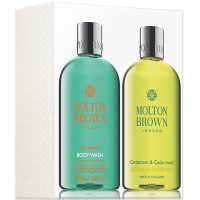 Molton Brown Samphire and Cardamon & Cederwood Bath Gel Set