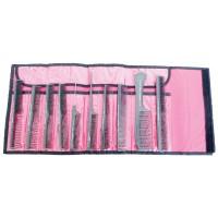 Hercules Sägemann 10er Kamm Set schwarz / Tasche pink