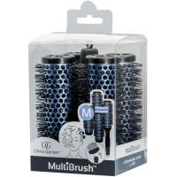 Olivia Garden Multibrush 4er Set 36/48 mm blau