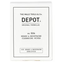 DEPOT 504 Beard & Moustache Cleansing Wipes 12er Pack