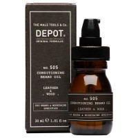 DEPOT 505 Conditioning Beard Oil Leather & Wood 30 ml