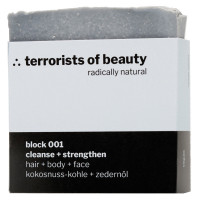 terrorists of beauty block 001 cleanse + strengthen Seife 100 g