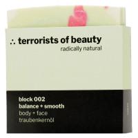 terrorists of beauty block 002 balance + smooth Seife 100 g