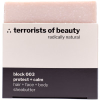 terrorists of beauty block 003 protect + calm Seife 100 g