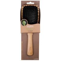 PARSA Beauty Profi FSC Holz Haarbürste Paddle Groß mit Mischborsten