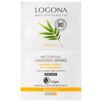 LOGONA Mattierende Lavaerde Maske 2x7 15 ml