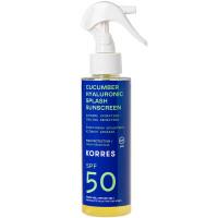 Korres Cucumber Hyaluronic Splash SPF50 2-Phasen-Sonnenschutzspray - Gesicht & Körper 150 ml