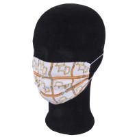 Solida Mund- und Nasenmaske 100% Polyester mit Bindeband, Dessin 14
