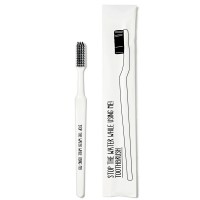 Stop the water while using me! All natural Toothbrush one size