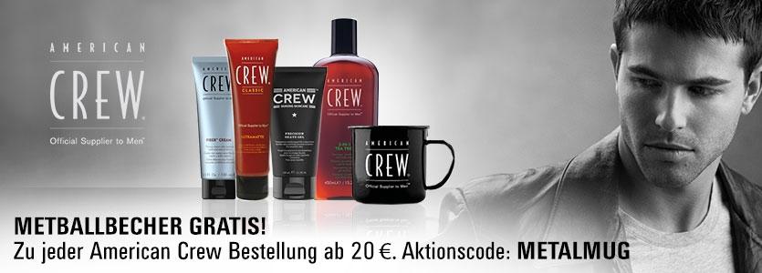 American Crew gratis Metallbecher