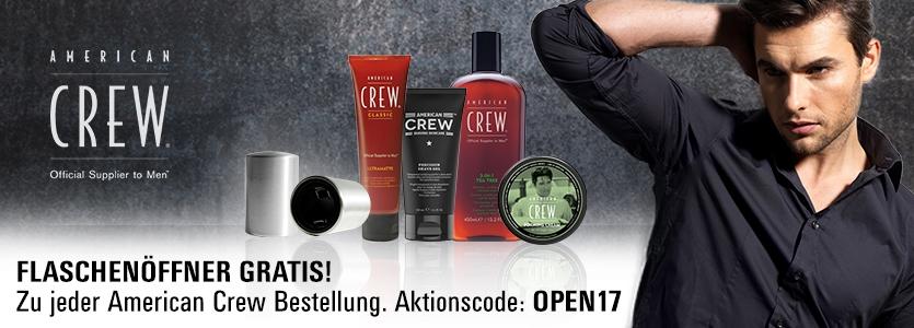 American Crew gratis Flaschenöffner