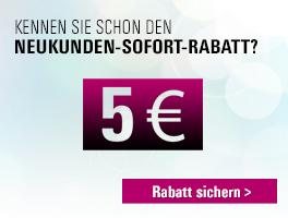 5 Euro Neukundensofortrabatt