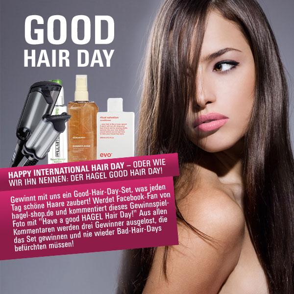 Gewinnspiel: Am 30. Mai ist der Tag des Haares – der HAGEL GOOD HAIR DAY!