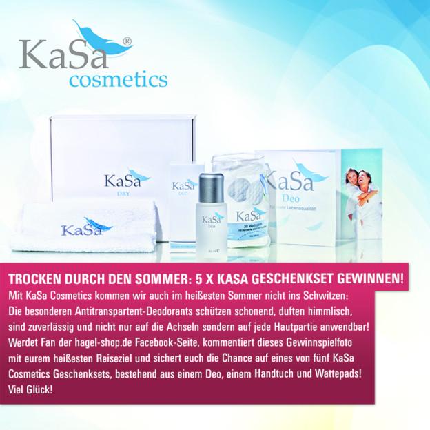 Facebook-Gewinnspiel: 5 x KaSa Geschenk-Sets für einen trockenen Sommer!