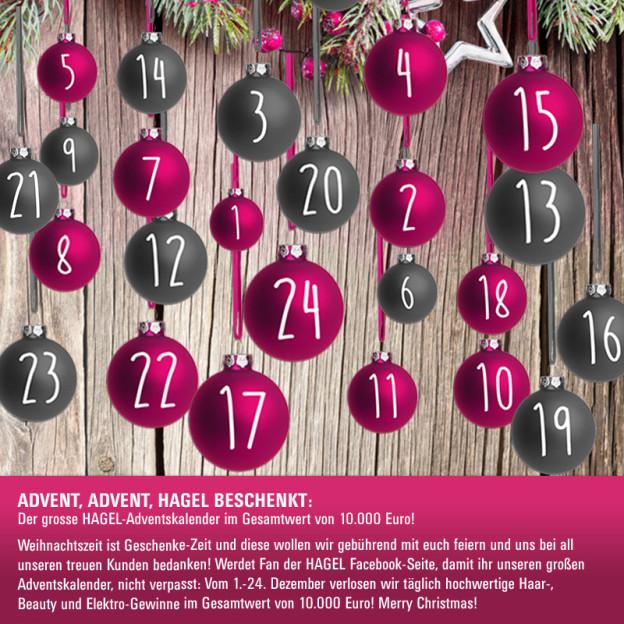 Facebook-Adventskalender: Schöne Weihnachten mit HAGEL!