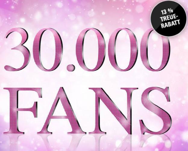 Wir feiern 30.000 Facebook Fans und bedanken uns!