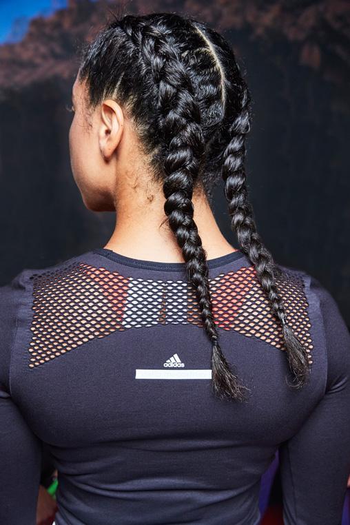 Frisuren Inspiration: Aveda Boxer Braids bei Stella McCartney X Adidas