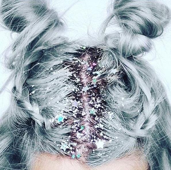 Frisuren-Inspiration: Glitter-Roots!