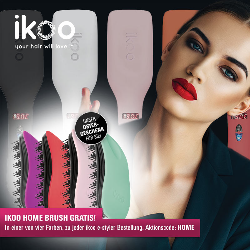 Ikoo-Aktion: Gratis-Bürste bei jeder Ikoo E-Styler-Bestellung!