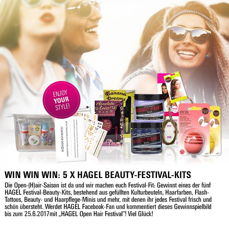 Facebook Gewinnspiel: 5 X HAGEL Beauty-Festival-Kits