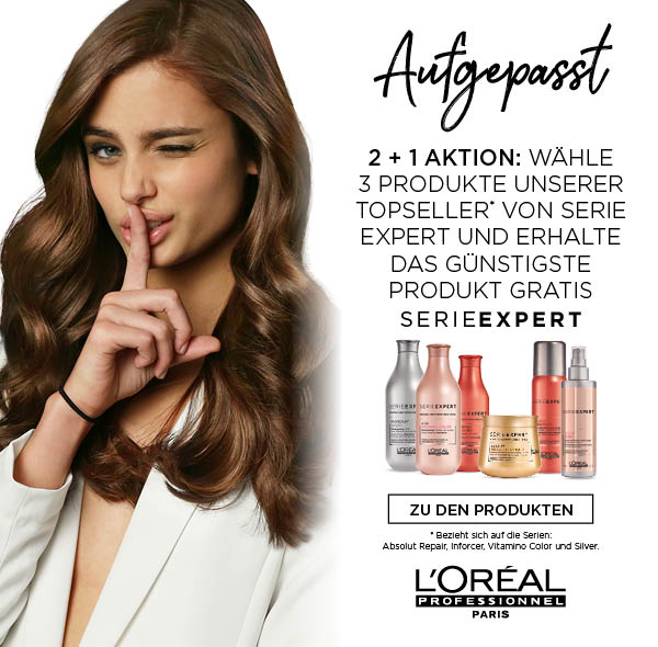 Drei Produkte kaufen, zwei bezahlen: L'Oréal Serie Expert!
