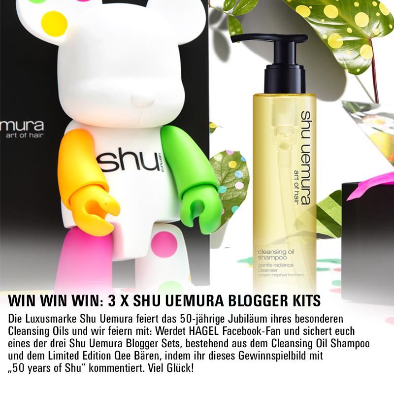 Facebook Gewinnspiel: 3 x Shu Uemura Blogger Kits