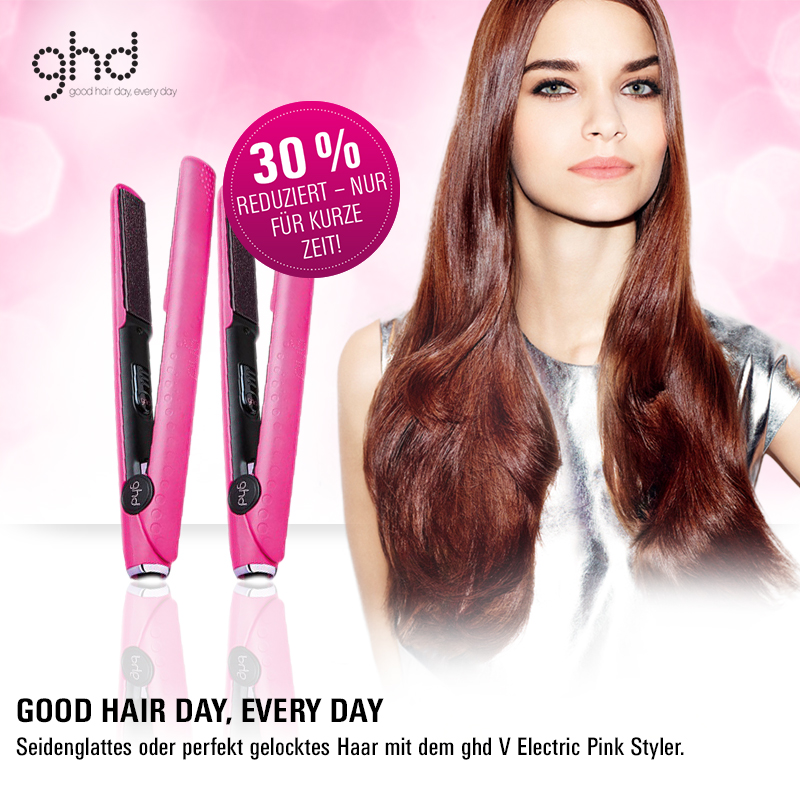 Editors Pick: Der ghd V Electric Pink Styler ist jetzt um 30% reduziert!