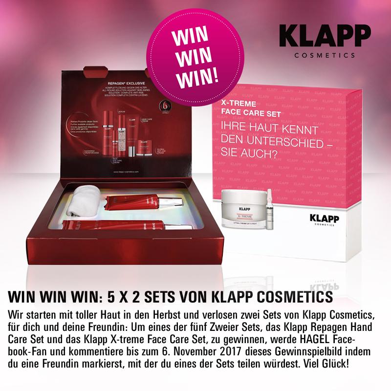 Facebook-Gewinnspiel: 5 x 2 Sets von Klapp Cosmetics!