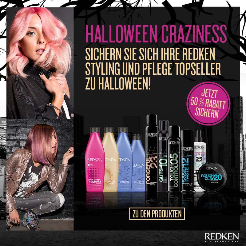 50% Rabatt auf die Top-Ten-Produkte: Halloween-Craziness mit Redken!